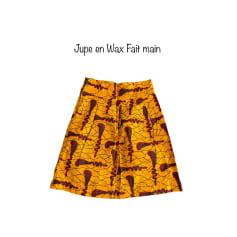 Jupe mi-longue Wax  pas cher