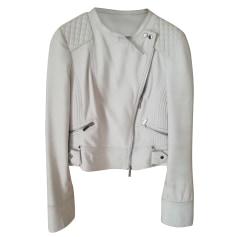 Leather Zipped Jacket Karen Millen