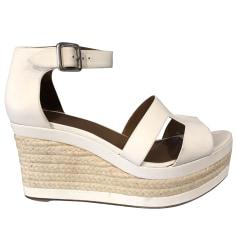 Sandales compensées Hermès  pas cher
