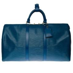 Sac à main en cuir Louis Vuitton Keepall pas cher