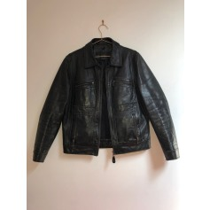 Leather Zipped Jacket Redskins