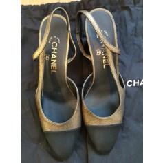 Sandales à talons Chanel Slingback pas cher