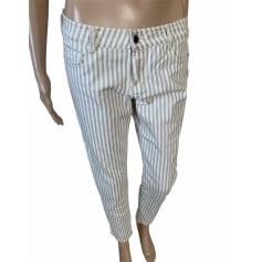 Pantalon slim, cigarette Massimo Dutti  pas cher
