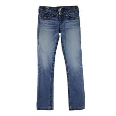 Jeans droit True Religion  pas cher