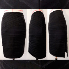 Jupe mi-longue haute couture  pas cher