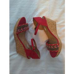 Sandales compensées Corina  pas cher