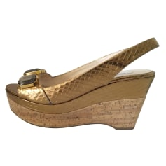 Sandales compensées Prada  pas cher