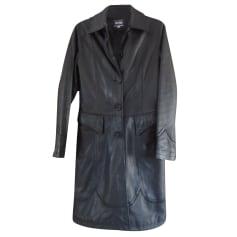 Manteau en cuir Jean Paul Gaultier  pas cher