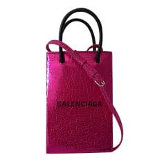 Leather Handbag Balenciaga Shopping