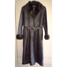 Manteau en cuir Derhy  pas cher