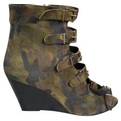 Bottines & low boots à compensés Sandro  pas cher