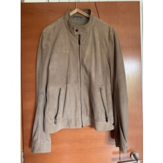 Leather Zipped Jacket Esprit