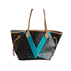 Sac à main en cuir Louis Vuitton Neverfull pas cher