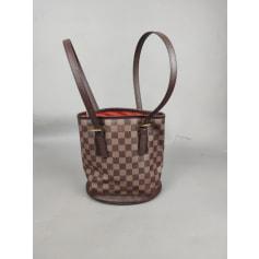 Sac à main en cuir Louis Vuitton Bucket pas cher