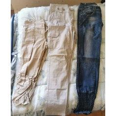 Pantalon slim, cigarette Made In Italie  pas cher