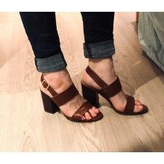 Sandales à talons La Halle  pas cher