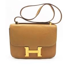 Sac en bandoulière en cuir Hermès Constance pas cher