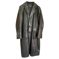 Manteau en cuir APC  pas cher
