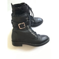 Bottines & low boots motards Sisley By Benetton  pas cher