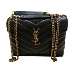 Leather Handbag Saint Laurent Loulou
