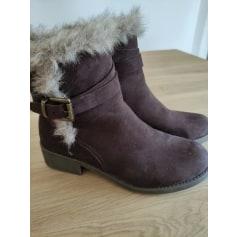 Bottines & low boots à talons fashion  pas cher