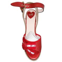 Sandales à talons Love Moschino  pas cher