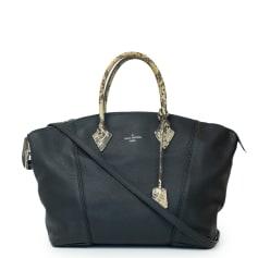 Sac en bandoulière en cuir Louis Vuitton Lockit pas cher