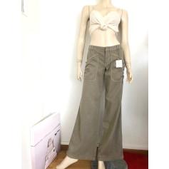Pantalon évasé DKNY  pas cher