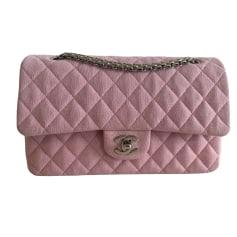 Sac à main en tissu Chanel Timeless - Classique pas cher
