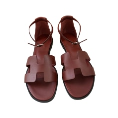 Sandales plates  Hermès  pas cher