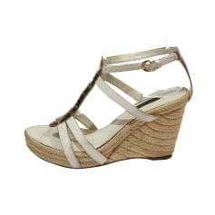Sandales compensées Louis Vuitton  pas cher