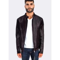 Leather Zipped Jacket Emporio Armani