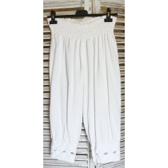 Pantalon large La Cotonnière  pas cher