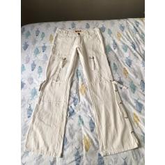Pantalon très evasé, patte d'éléphant Vintage  pas cher