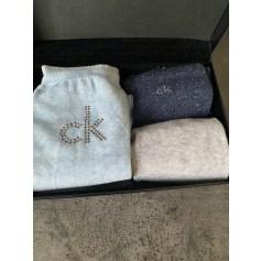 Chausettes genoux Calvin Klein  pas cher