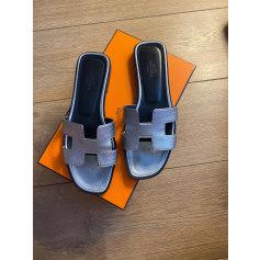 Sandales plates  Hermès Oran pas cher