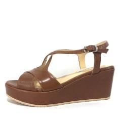 Sandales compensées Cervone  pas cher