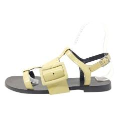 Sandales plates  Jil Sander  pas cher