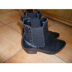 Bottines & low boots motards Besson  pas cher