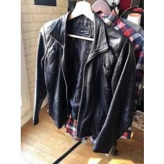 Blouson en cuir Genuine Leather  pas cher