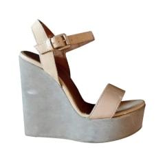 Sandales compensées Emporio Armani  pas cher