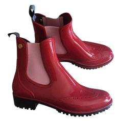 Bottines & low boots plates Trussardi Jeans  pas cher