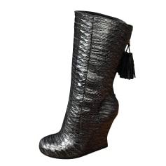 Stivali con zeppa Saint Laurent