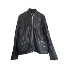 Leather Zipped Jacket Diesel