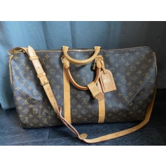 Sac en bandoulière en tissu Louis Vuitton Keepall pas cher