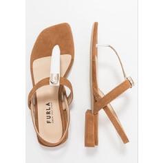 Sandales plates  Furla  pas cher