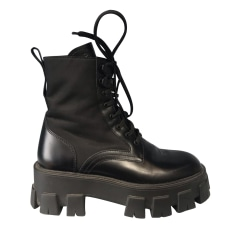 Bottines & low boots plates Prada  pas cher