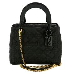 Leather Handbag Dior LADY DIOR