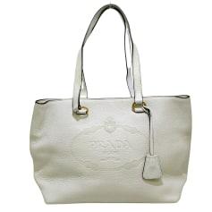 Leather Oversize Bag Prada