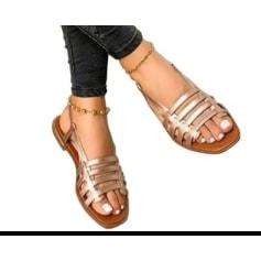Sandales plates  non signé  pas cher